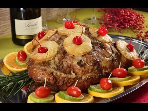Pierna de cerdo al horno navideña